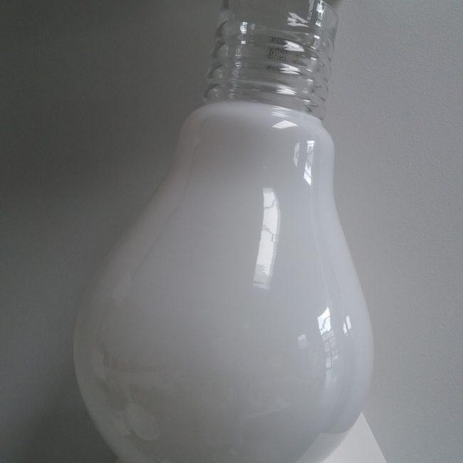 4-491-400 OP VASE LAMP H.40 OPAL